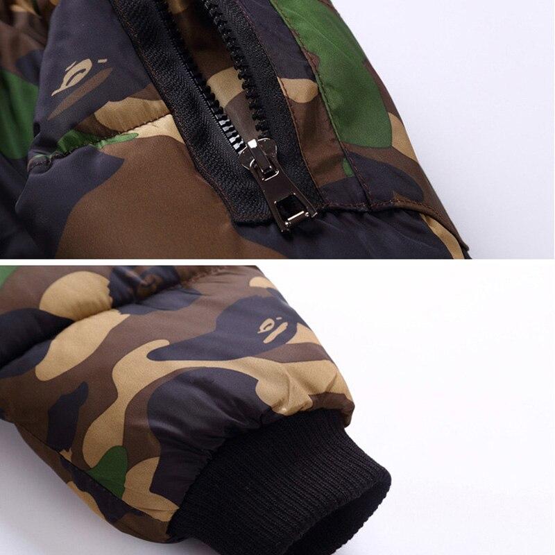 cce868bc5 US $25.68 |weiqinniya Boys Down Parka Jackets Winter Jacket For Boy  Children Windbeaker Parka Coat Russian For Boy Hooded Camouflage Jacket-in  Down & ...