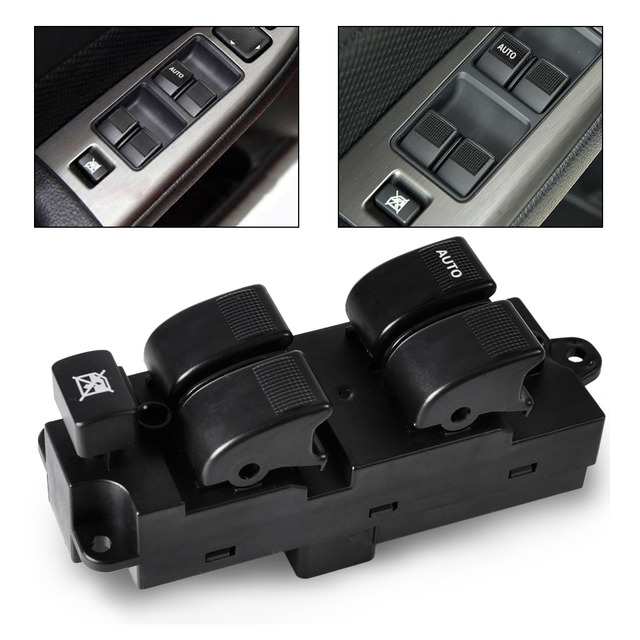 Plastic & metal Power Window Master Switch left hand Driver Side fit for Mazda 626 MPV 2001 2002 2003 2004 2005 2006 GG2A66350