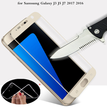 MPCQC 2.5D 9H Premium Tempered Glass For Samsung Galaxy J7 J3 J5 2017 2016 Display Protector Toughened protecting movie cowl case