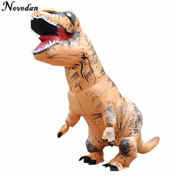 purim costumes airblown fan operated t rex inflatable dinosaur suit outfit party halloween costume for kids adult dino rider