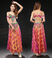 Bollywood Dance Costumes Bra Belt Skirt High Quality Flashing Cheap Belly Dance Costumes Sexy Bellydance Skirt