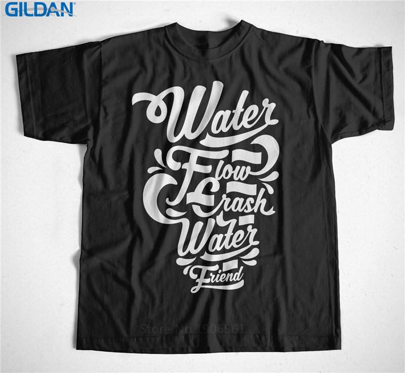 Make Your Own Logo Design For T Shirts MenS Short Sleeve Printing O-Neck Be Water My Friend Shirt