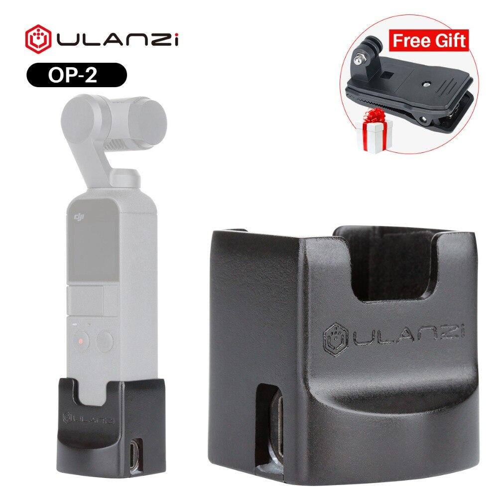 Ulanzi OP2 cardán accesorios para Dji Osmo bolsillo Vertical cardán titular de la Base de montaje fijo 1/4 tornillo Cable de puerto de carga USB tipo -C