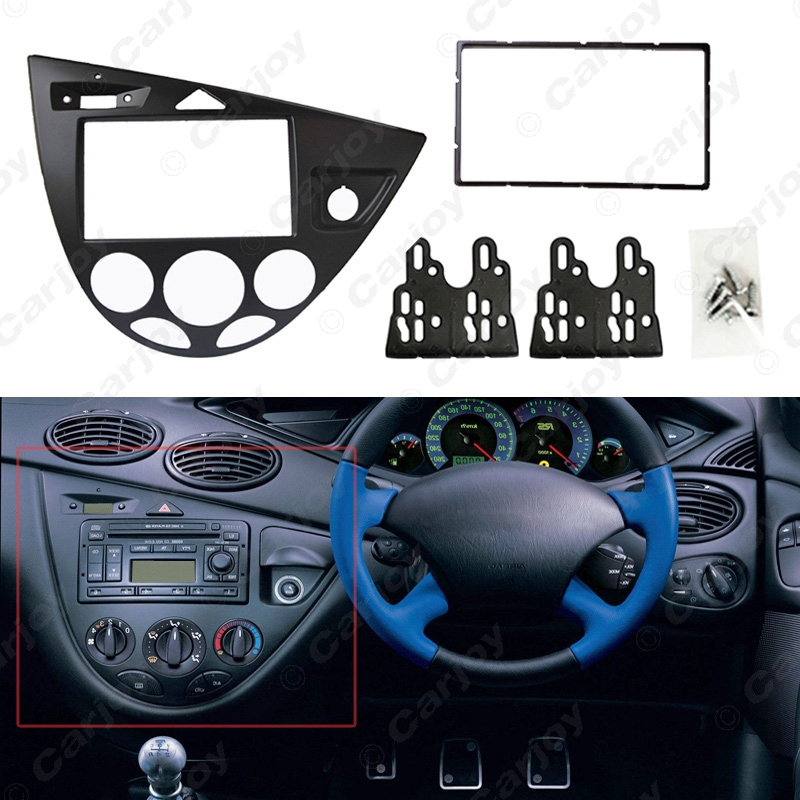 ФОТО 2 Din Stereo Panel for Ford Ford Focus /Fiesta Fascia Radio Refitting Dash Installation Trim Kit Face right hand drive #CA2219