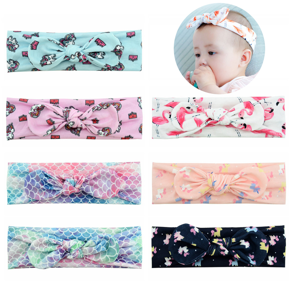 Girls Hairbands For Newborn,toddler And Childrens 904 Clients First Hearty 1pcs Baby Flamingo Unicorn Headbands Turban Knotted Hair Accessories