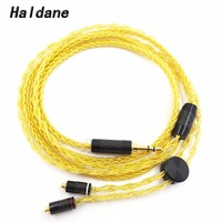 Free Shipping Haldane 3.5mm Stereo Hand Made Replacement MMCX Cable for N3AP SE535 SE846 W80 W40 Headphone Upgrade Cable