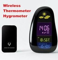 Wireless Cobblestone Design Humidity Temperature Digital Alarm Clock Weather Station Indoor Outdoor Thermometer Hygrometer