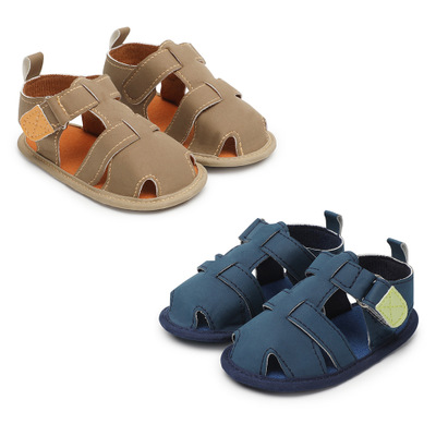 2018 New Style Brand Baby Sandals Cute Boys And Girls Summer Sandals Nonslip Toddler Shoes Cut-Outs Baby PU Leather Sandals
