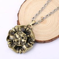 Game Of Throne Necklace House Tyrell Rose Totem Pendant Necklace Gold Vintage Necklace For Men Jewelry