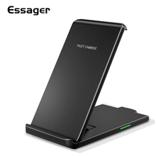 Essager Qi Wireless Charger For iPhone X XS 8 Samsung Huawei P30 Pro Xiaomi mi 10W Fast Charging Pad Dock Station Stand