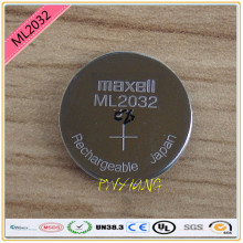 high-quality 2PCS/LOT New Original Maxell ML2032 3V Rechargeable lithium battery button cell button batteries (ML2032)