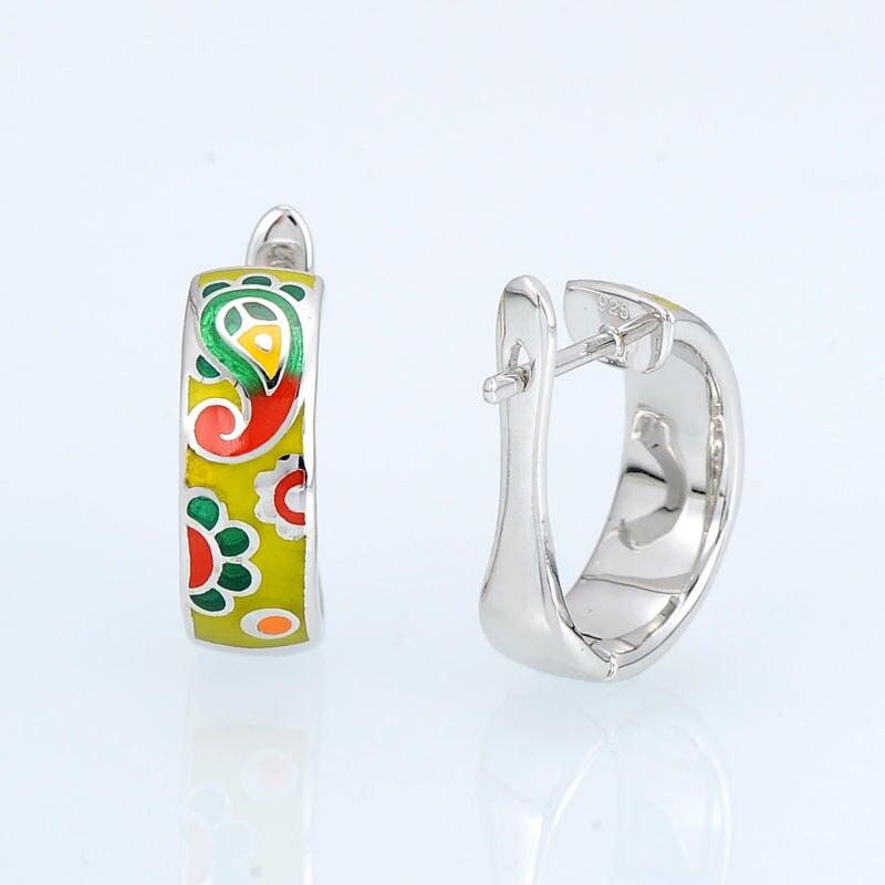 E303901ENMSL925-SV3-Silver Earrings