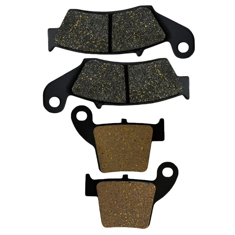 Front & Rear Motorcycle Brake Pads For Honda CRF250R CRF250 X 2004-2015 CRF450R CRF450 X 2002-2015 Brake Disc Pad motorcycle semi met brake pads set for honda xr250 xr 250 s r 1996