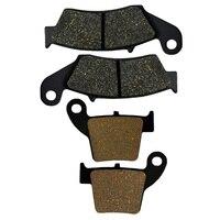 2 Pairs Motorcycle Brake Pads For Honda CRF250R CRF250X 2004 2015 CRF450R CRF450X 2002 2015 Brake