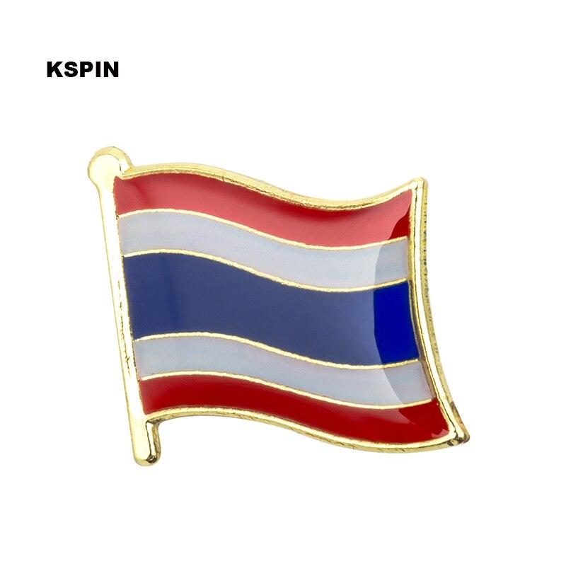 Thailand flag badge pin lapel pin 100pcs a lot Brooch Icons KS 0172