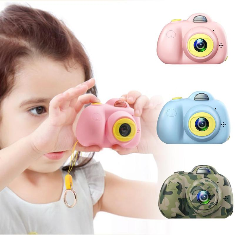 2 Inch HD Screen Digital Mini Cartoon Camera Toys Children 800W Front And Back Dual Cameras Electronic Automatic Photography Toy