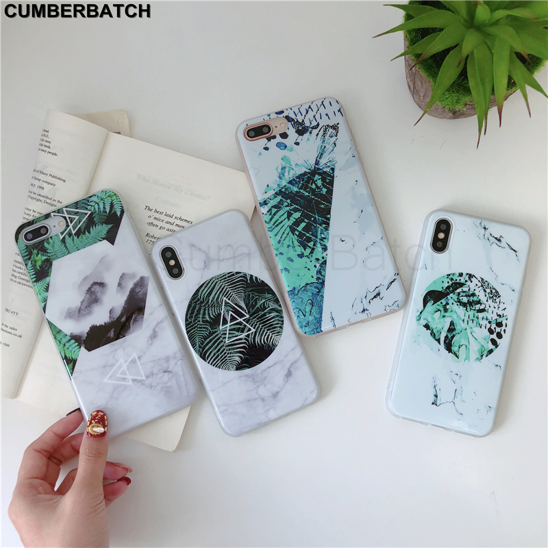 Phone Cases on the For iPhone 8 7 6 S 6S Plus Marble Case For iPhone XR X XS Max 7 8 Luxury Soft TPU Silicone Coque Funda Case
