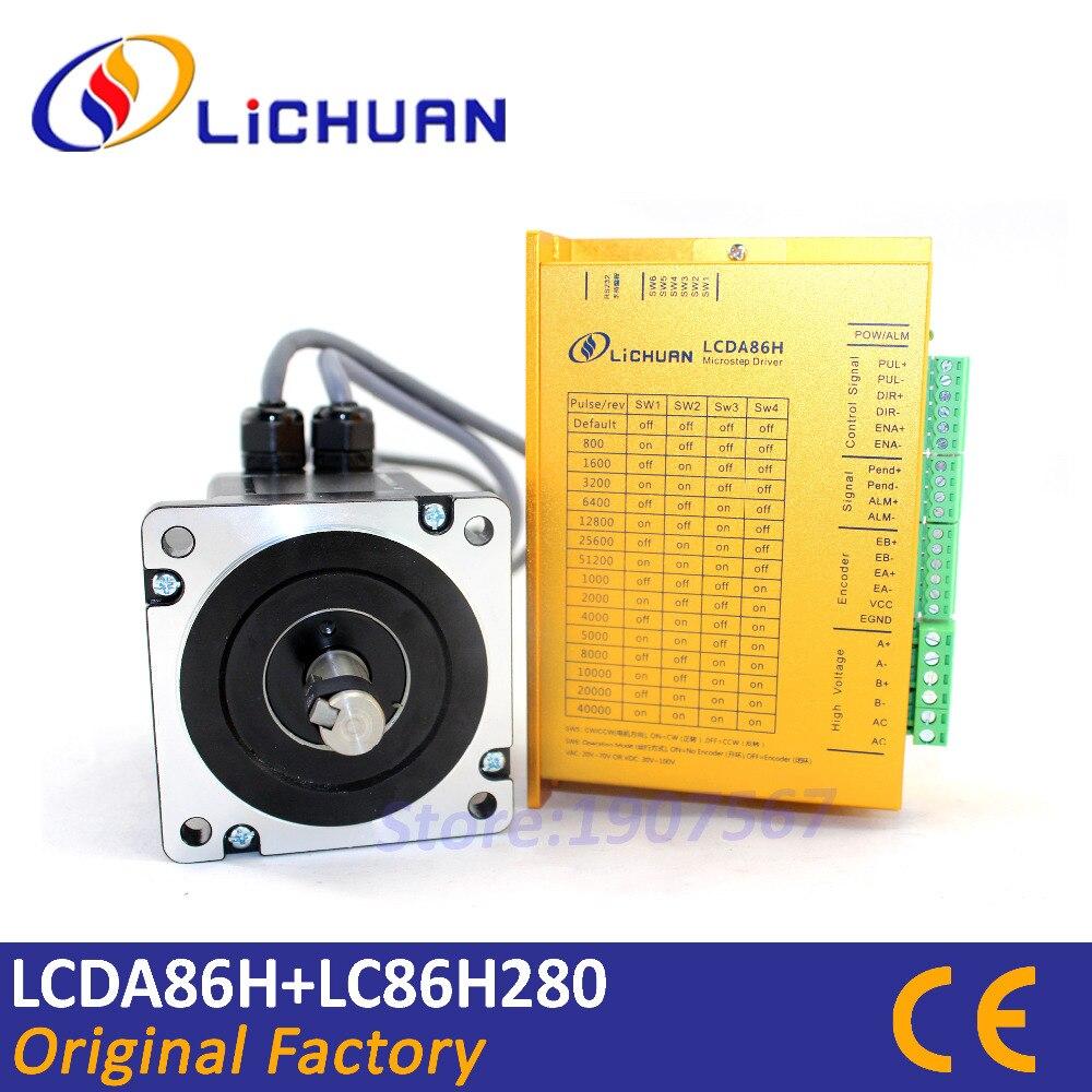 Hot Lichuan NEMA 34 closed loop stepper motor 4 5Nm hybrid servo motor Nema34 kit CNC