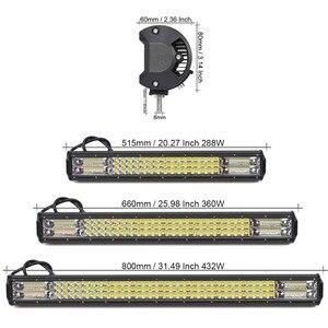Image 2 - Светодиодный светильник s 4x4 для внедорожников, внедорожников, грузовиков, кроссоверов, квадроциклов, прицепов, 4WD, белый, красный, синий, мигающий стробоскоп, Предупреждение ющий светильник для вождения