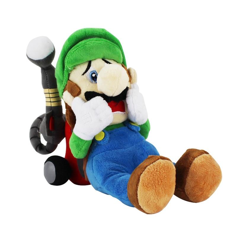 18CM nowy nabytek Super Mario Luigi pluszowe zabawki horror Luigi z Tag lalki Mansion 2 Luigi pluszowe zabawki na prezent na boże narodzenie 1 sztuk
