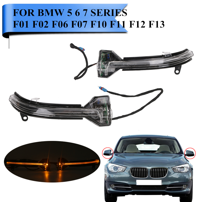 2PCS LED Rearview Side Mirror Indicator Turn Signal Light For BMW F10 535i 550i ix F01 F07 F02 F11 Direction Blinker Lamp #WN179 12v 3 pins adjustable frequency led flasher relay motorcycle turn signal indicator motorbike fix blinker indicator p34