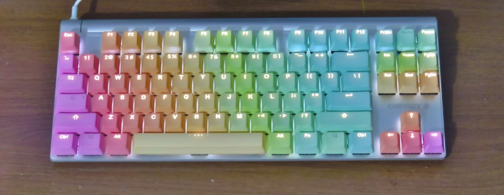 ikbc PBT Rainbow Keycaps Illuminated Cherry Profile for mx Gaming Mechanical Keyboard MX6 0 MX8 0