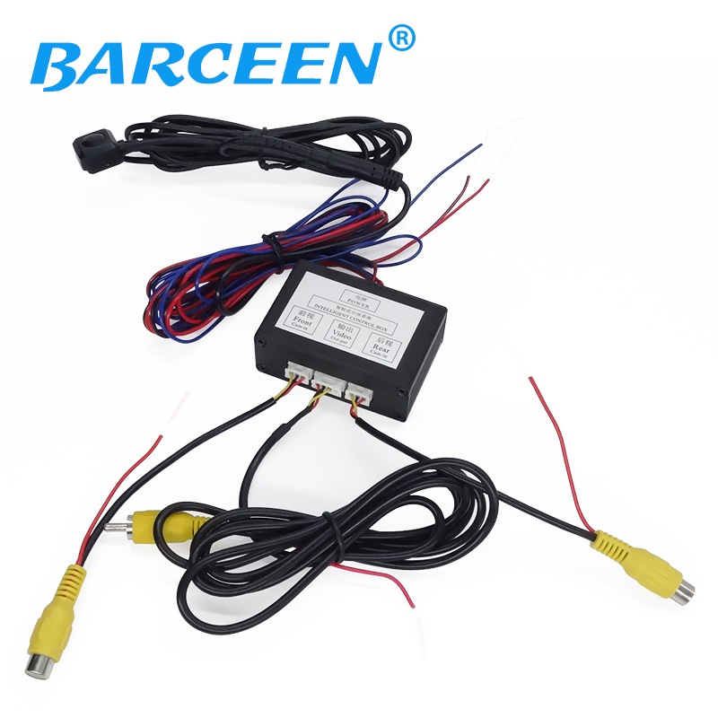 New Car Reverse Camera Two Channel Switch Video Control Box Video Converter For Auto Switch Front /Side View/ Rear View Camera