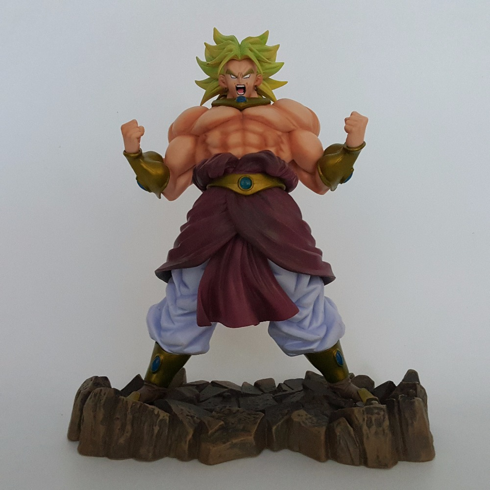 Dragon Ball Z Action Figures Broly Super Saiyan PVC Figures 250mm Anime Dragon Ball Model Toy Esferas Del Dragon dragon ball z son goku vs broly super saiyan pvc action figures dragon ball z anime collectible model toy set dbz