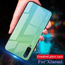 For Xiaomi Mi 9 SE 8 Lite Mi8 Gradient Tempered Glass Case Shockproof Phone Cover Mi9SE Mi9 mi Cases
