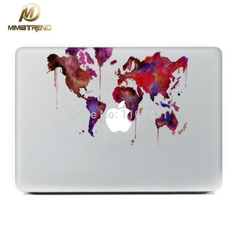 Online get cheap stickers macbook 13 world aliexpress mimiatrend graffiti world map vinyl decal sticker for apple macbook pro air pro retina 11 13 gumiabroncs Image collections