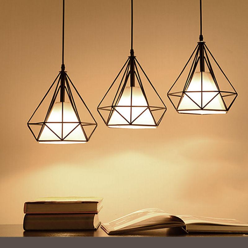 ФОТО Vintage Retro Ceiling LED E27 Lamp Loft Iron Dinning Cafe Corridor Bar Bulb Droplight Light Home Bedroom Decor Black/White Gift