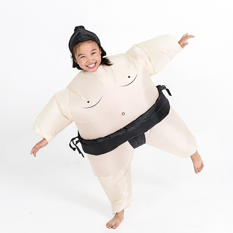 Girls Boys Sumo Cosplay Costumes Anime Inflatable Garment For Children Party Clothes Halloween Christmas Kids Dress Up Disfraz
