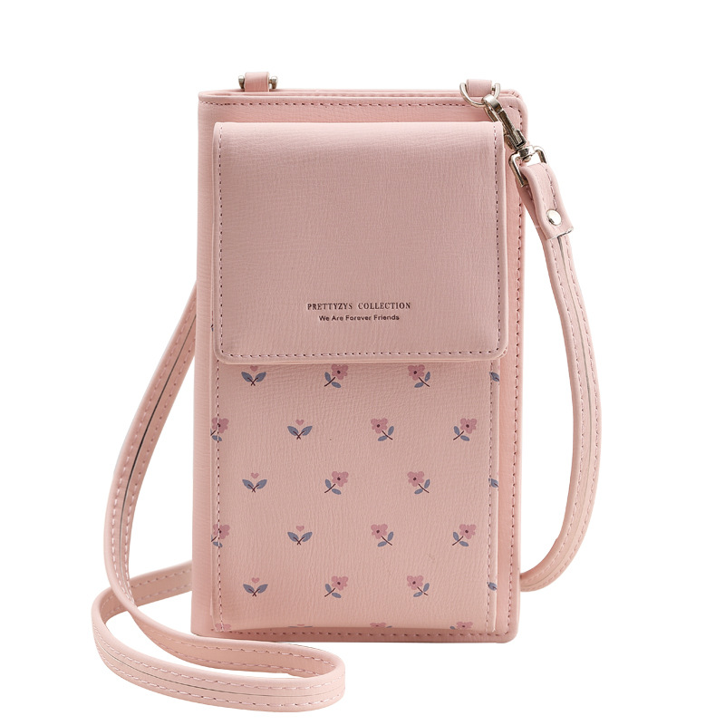 Fashion Printing Flower Women Wallet Multifunction Phone Wallet Women Mini Shoulder Bags Young Girl Purse Brand Crossbody Bags