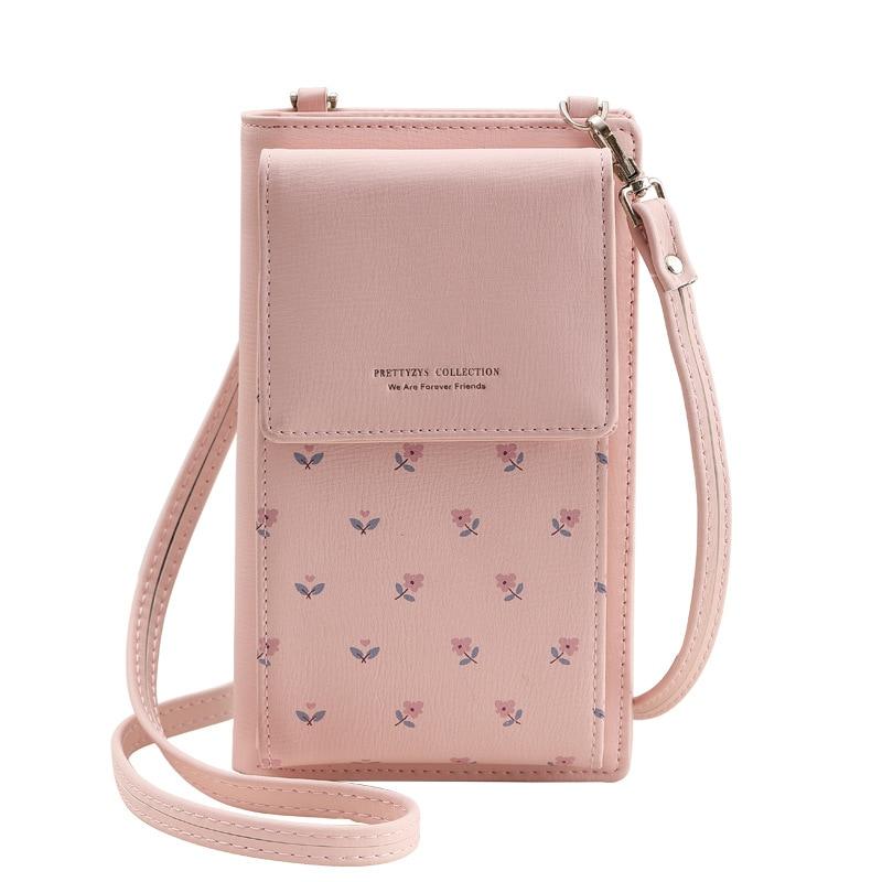 Fashion Printing Flower Women Wallet Multifunction font b Phone b font Wallet Women Mini Shoulder Bags