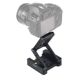 ADAI 360 Degree Rotation 3-Folding CNC Aluminum Quick Release Plate Holder Tripod M Flex Tilt & Ball Head For Camera Accessories