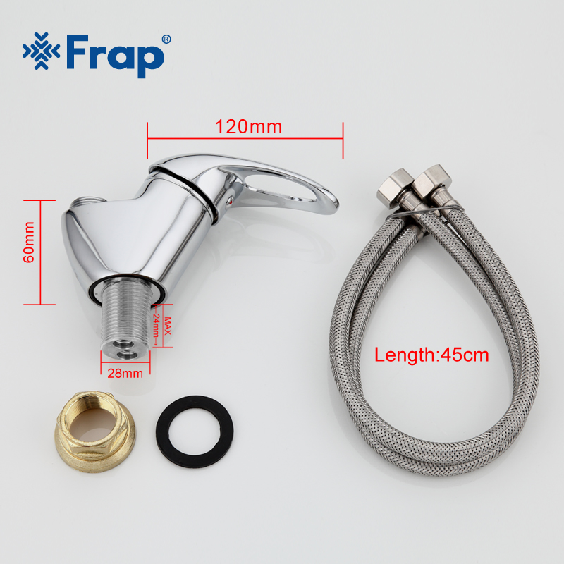 Frap Kitchen Faucet 6 color kitchen sink faucet mixer Any Direction Rotation Cold and Hot Water Mixer tap Torneira Cozinha in Kitchen Faucets from Home Improvement