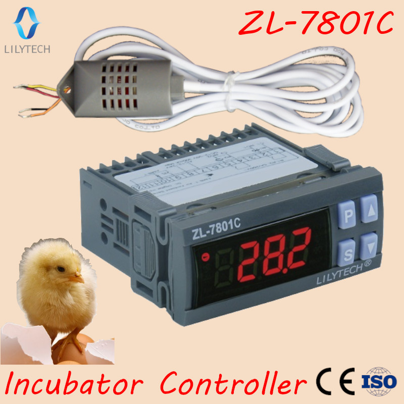ZL-7801C, 100-240VAC, Temperature Humidity controller for incubator, Automatic incubator, Incubator Controller, Lilytech