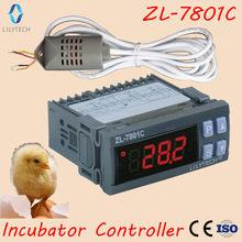 ZL-7801C, 100-240vac, controlador de temperatura e umidade para incubadora, controlador multifuncional automático da incubadora, lilytech