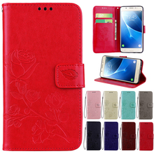 Leather Phone Case For Samsung Galaxy A5 2016 version A5100 Wallet Rose Flower Stand Mobile Phone Cover For Samsung A510F Cases защитная плёнка для samsung galaxy a5 2016 sm a510f front