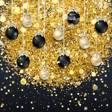 Laeacco Photography Backdrops Christmas Ball Bauble Gift Ribbons Celebration Baby Photo Backgrounds Photocall Studio