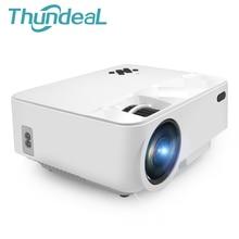 ThundeaL T21 Mini Proyector 1500 Lúmenes Resolución 800*480 Proyector Portátil Mini Proyector de Cine En Casa HDMI VGA USB Actualizado T20