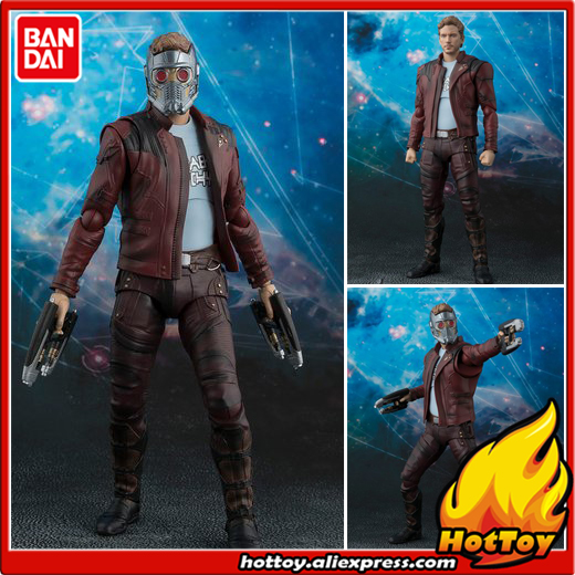100% Original BANDAI Tamashii Nations S.H.Figuarts (SHF) Exclusive Action Figure - Star-Lord from Guardians of the Galaxy 2 фигурка planet of the apes action figure classic gorilla soldier 2 pack 18 см