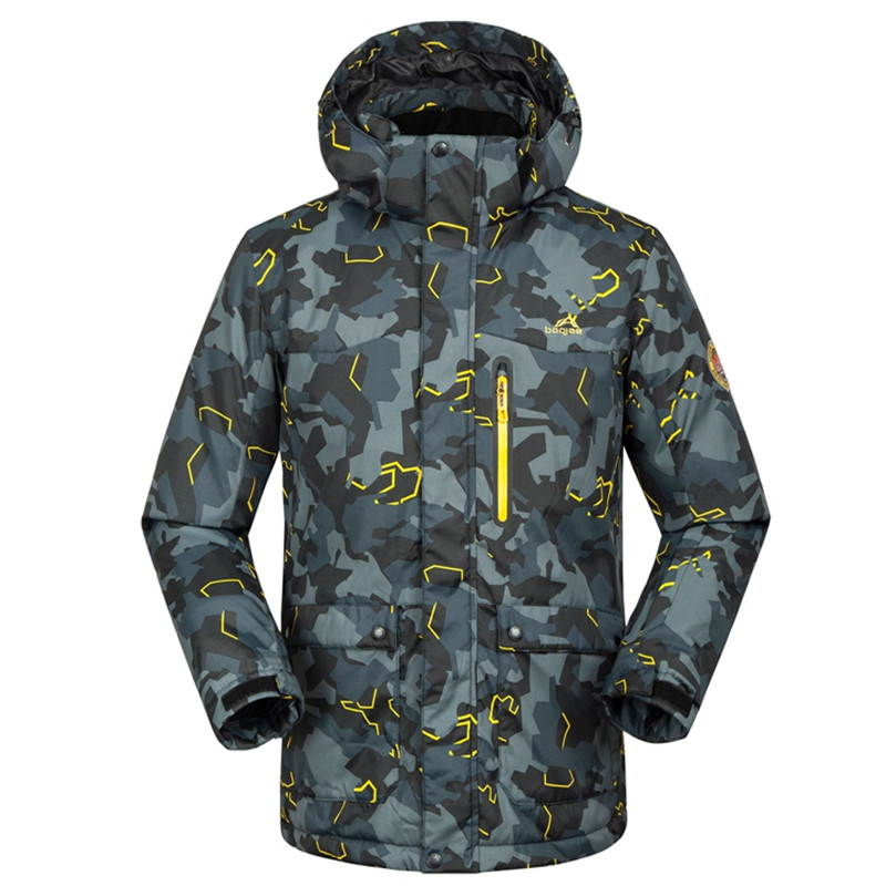 New FREE Shipping Famous Brand Ski Jacket For Men Waterproof Windproof Snowboard Suit Coat Winter Men Big Yard Jacket