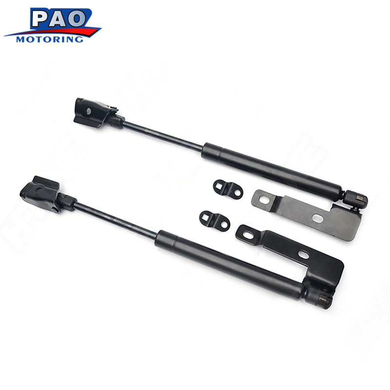 2pcs For Nissan NAVARA D40 2005-2015 Front Hood Lift Supports Gas Charged Struts Damper Shocks Auto HCK-067-1  24.02 2pcs for 2005 2013 nissan pathfinder rear window lift supports struts 6607 sg325028