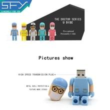 2015 SFY Usb Flash Drive Fashion Hello Doctor Real Capacity Memoria Usb 8GB 16GB 32GB Pen Drive Pendrive Memory Usb Stick For PC