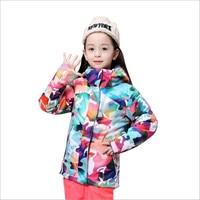 Gsou Snow Brand Girls Ski Jacket Waterproof Kids Skiing Jackets Winter Outdoor Children Sport Suit Children