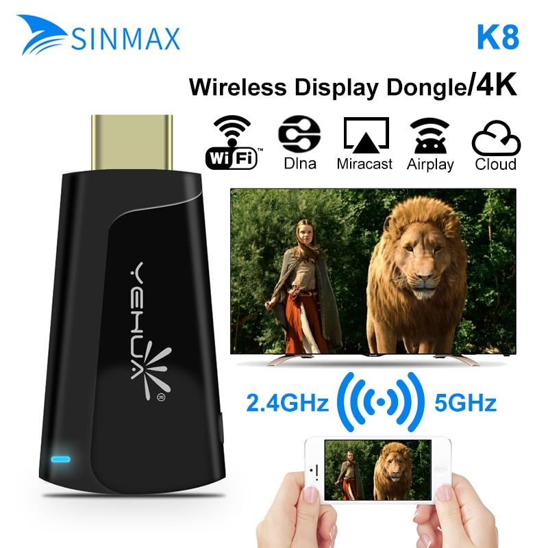 5g 4 K HD TV Stick K8 inteligente inalámbrico de pantalla de TV Dongle Android Miracast cromecast para PC de teléfono PK Chromecast Anycast M100 netflix