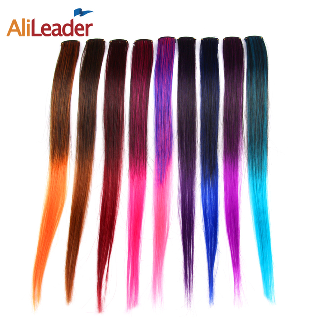 Alileader Clip In Hair Extensions Highlight Synthetic Clip Hair