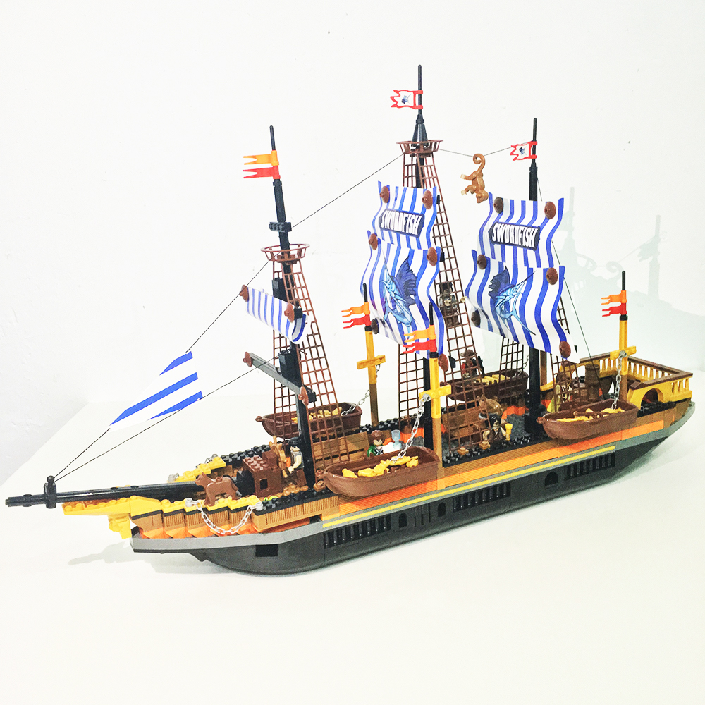 model building kits compatible with lego city pirate 1078 3D blocks Educational model & building toys hobbies for children lepin 02012 city deepwater exploration vessel 60095 building blocks policeman toys children compatible with lego gift kid sets