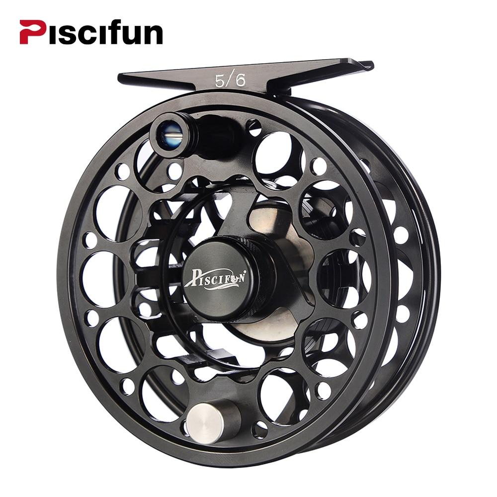 Piscifun Sword 3/4/5/6/7/8/9/10 WT Fly <font><b>Reel</b></font> With CNC-Machined Aluminium Material Right Left Handed Fly <font><b>Fishing</b></font> <font><b>Reel</b></font> Gunmetal